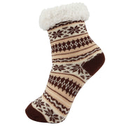 AAS Unisex Fuzzy Wool Fleece-lined Slipper Socks