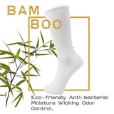 MD Bamboo Crew Socks Non-Binding Cushioned Moisture Wicking Dress Socks (2 Pairs)