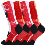 360 Print Flag Socks Cushion Basketball Athletic Outdoor Socks