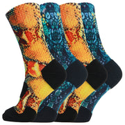 360 Print Snake Cushion Basketball Athletic Sports Socks