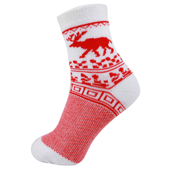 AAS Elk Thick Wool Knitting Socks Christmas Two Pack