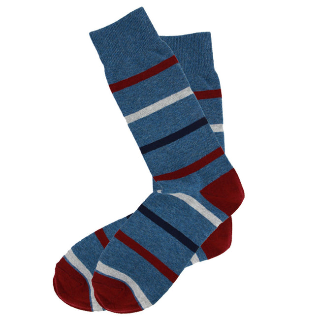 AAS Cotton Crew Stripe Dress Socks Colorful