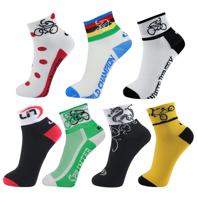 Lin 7 Pack Sports Bike Running Spin Class Hiking Socks