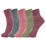 5 Pairs Fun Colorful Wool Warm Socks Christmas Gifts 5Pack