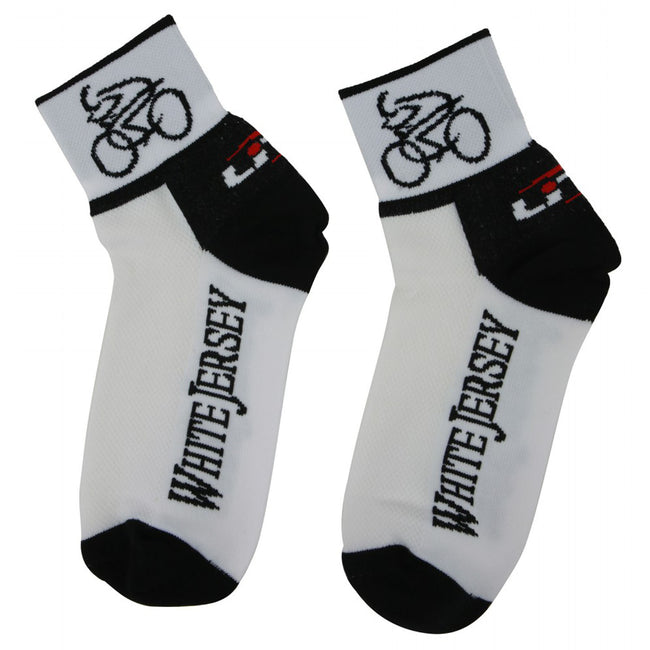 LIN Tour de France CoolMax Cycling Socks White Shirt