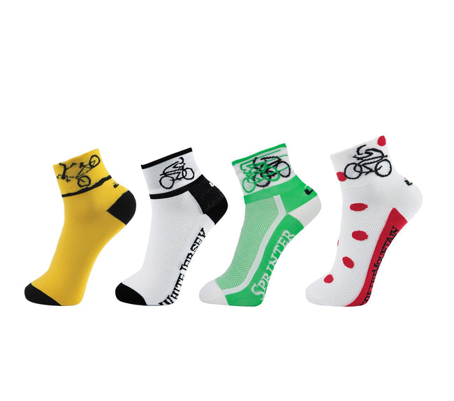 LIN 4 Pack Tour de France Cycling Socks