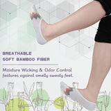 MD Bamboo Anti-Odor No Show Liner Invisible Socks