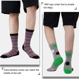 MD Design Bamboo Crew Fashion Polo Dots Socks Cushioned