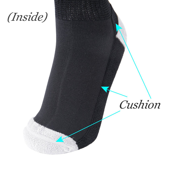 MD Bamboo Non-Binding Ankle Socks with Seamless Toe and Cushion Sole (2 Pairs)