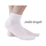 MD Non-Binding Bamboo Ankle Seamless Socks Cushioned Sole (2 Pairs)