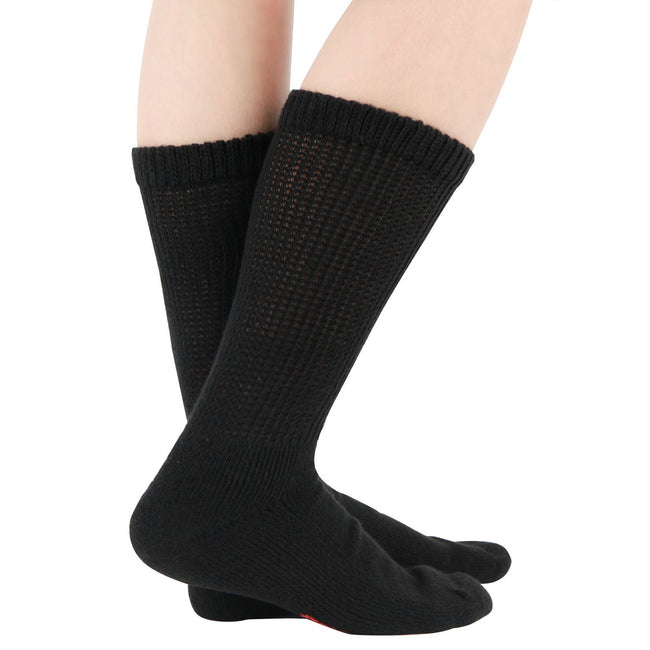 MD Polyester Loose Fit Crew Socks Half Cushion Dress Socks (2 Pairs)