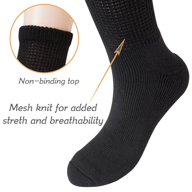 MD Polyester Loose Ankle Socks Cushion Circulatory (2 Pairs)