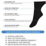 MD Cotton Non-Binding Ankle Socks for All Seasons Loose Fit Antibacterial (2 Pairs)