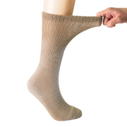 MD Polyester Loose Fit Crew Socks Half Cushion Dress Socks