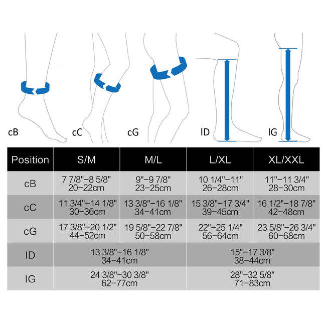MD 15-20mmHg Thigh High Compression Socks Inspection Toe