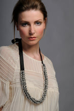 Load image into Gallery viewer, Suki necklace - beads and crystals with  ribbon ties