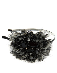 Addison - Frayed animal print ruffle headband