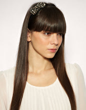 Load image into Gallery viewer, Chloe - Faceted glass beaded bow headband