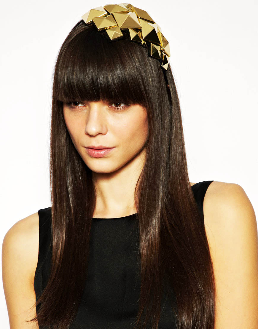 Stella - Faceted Gold Headband