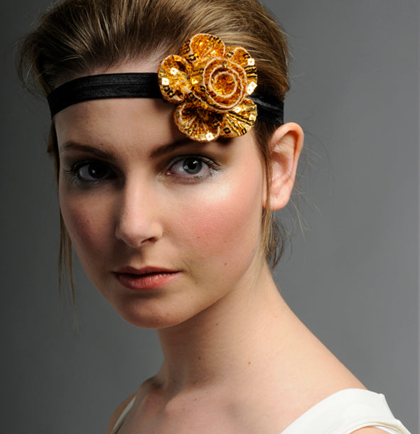 Clara  -Sequin flower headband