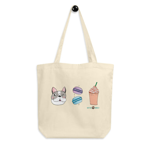 Dog, Macarons, & Frappuccino Eco Tote Bag