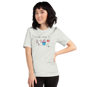 """My Heart Belongs To..."" Short-Sleeve Women's & Men's T-Shirt"