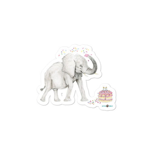 Celebrating Elephant Bubble-free stickers