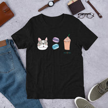 Load image into Gallery viewer, Dog, Macarons, & Frappuccino Sustainable Short-Sleeve Men's & Women's T-Shirt