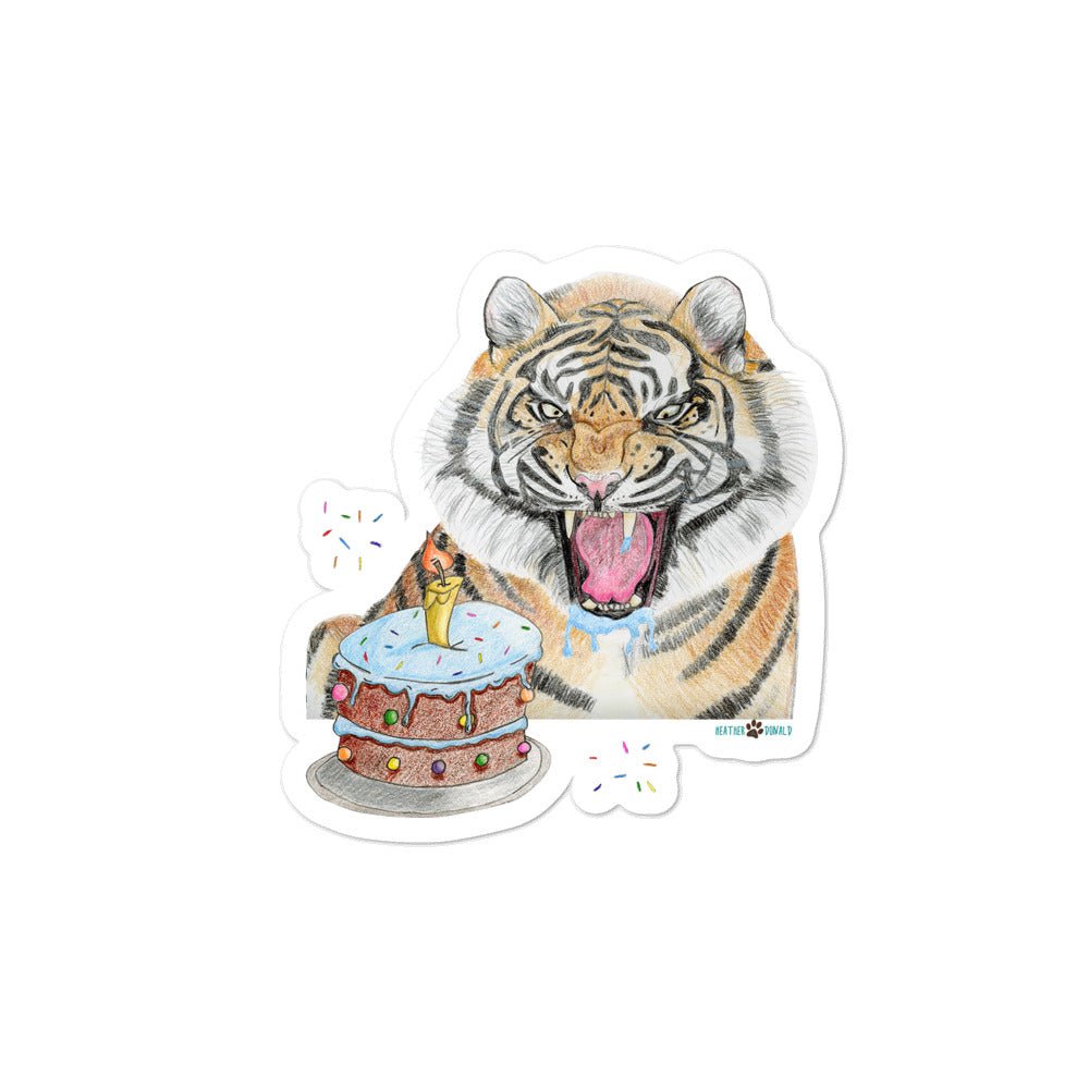 Celebrating Tiger Bubble-free stickers