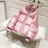 Female Glossy Down Parka Winter