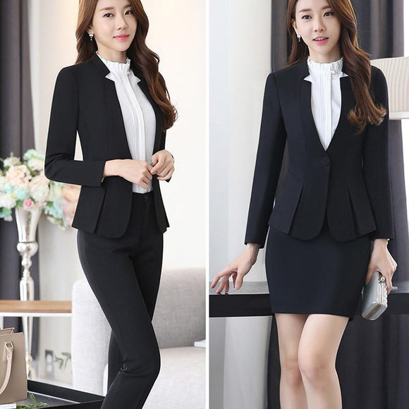 Black Blazer Women Business Trouser Suits