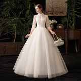 New High Neck Wedding Dress