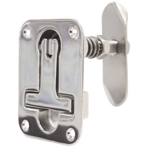 Cast 316 Stainless Steel Hatch Latch - (Fastening Holes in Top Plate)