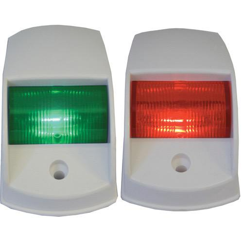 Port & Starboard LED Navigation Lights - White Shroud - 12V
