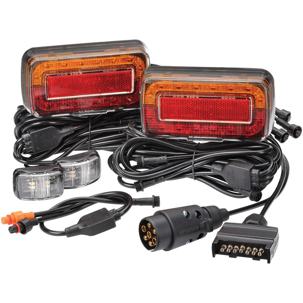 12V Model 37 L.E.D 'Plug and Play' Trailer Lamp Kit (Submersible) to suit Boat Trailers up to 7m (22ft)