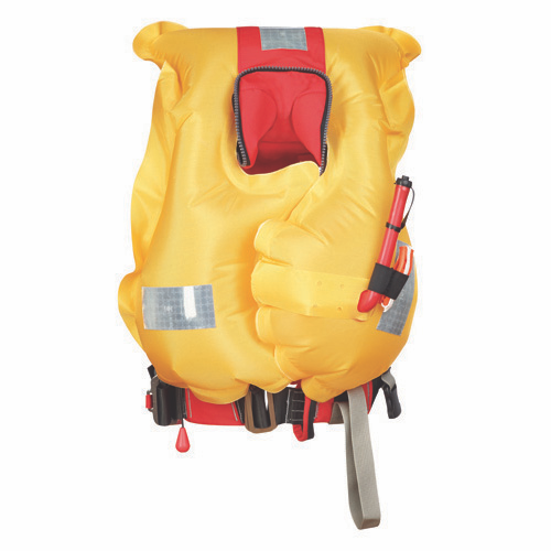 Crewfit 150N Junior Lifejacket - Auto- Harness - Fiery Red
