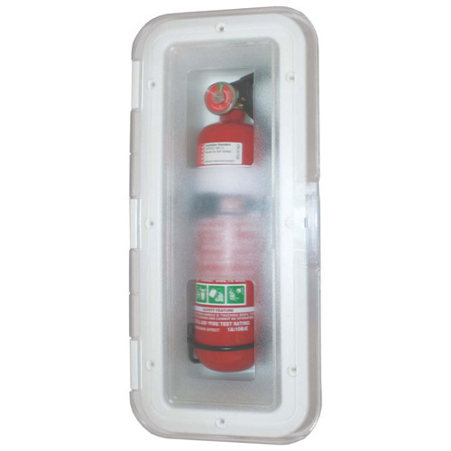 Fire Exting Box - Transparent Hinged Door - Deluxe - 2kg