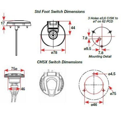 12/24V Foot Switch CHSX Model
