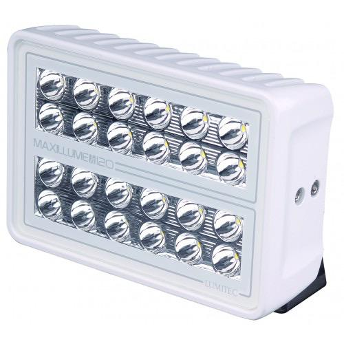 Maxillume H120 Flood Light White Finish - Color Output: White 10-30V - 12000+ Lumens