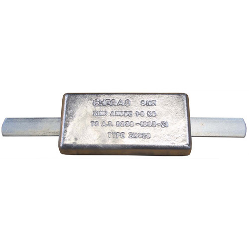 Zinc Block Anode With Strap