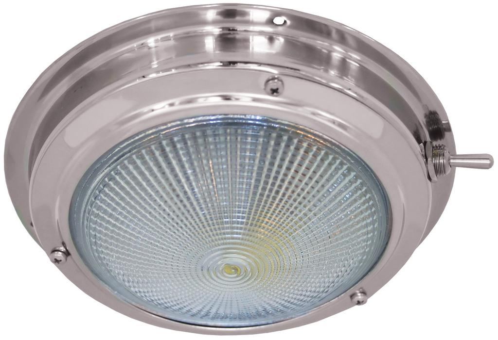Stainelss Steel Dome Light - LED - 160mm - 12V