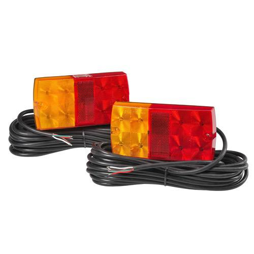 12V Model 36 L.E.D Slimline Submersible Trailer Lamp Pack w/ 9m of Hard-Wired Cable per Lamp