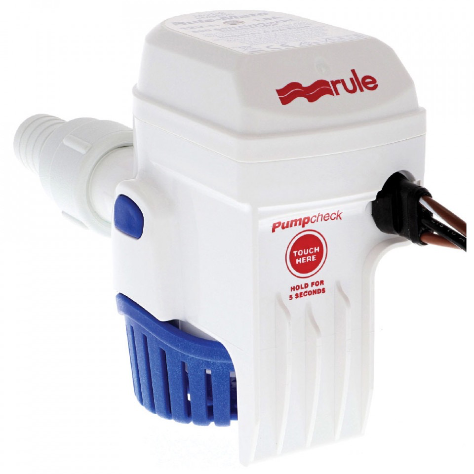 1100 GPH (4164 LPH) Rule-Mate Automatic Bilge Pump - 12V