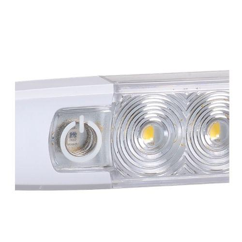 12 Volt Dual Colour L.E.D Strip Lamp White/Blue with Touch Switch (Boxed Pack of 1)