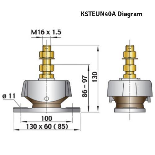 Flexible Engine Mounting - Type K40A - Max Load: 40kg