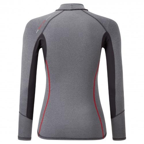 Pro Rash Vest Long Sleeve Womens - Grey Melange