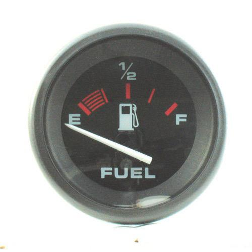 Black Amega Domed Gauge - Fuel