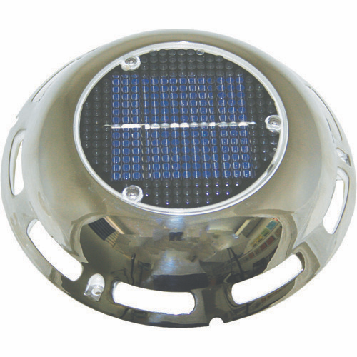 Solar Vent - Stainless Steel - With Battery - 190mm