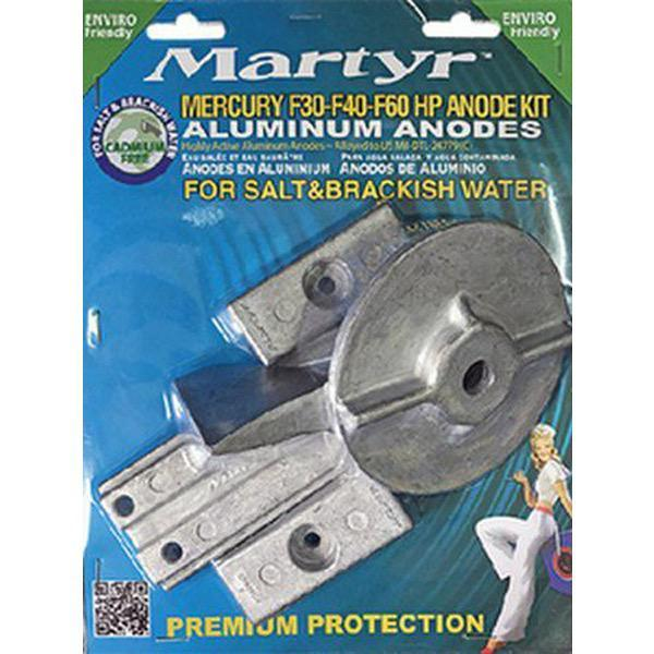 Martyr Unclassified Aluminium Anode Kit - Mercury - Suits F30-F40-F60 HP - 0.798kg
