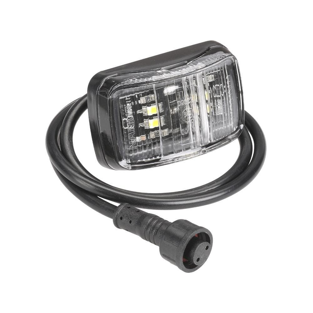 Narva Unclassified 12V Model 37 L.E.D Slimline Front End Outline Marker Lamp (White) w/ 0.5m Lead & Waterproof Connector